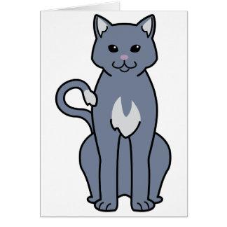 Amerikanischer Ringtail-Katzen-Cartoon Karte