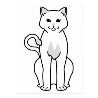 Amerikanischer Ringtail-Katzen-Cartoon Postkarte