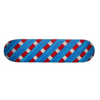 Amerikanischer roter weißer blauer hölzerner personalisiertes skateboarddeck