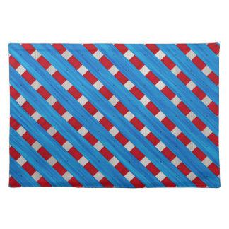 Amerikanischer roter weißer blauer hölzerner tischset