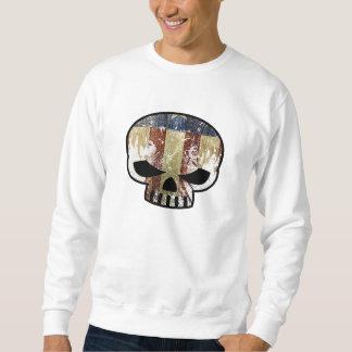 amerikanischer Schädel-Schweiß Sweatshirt