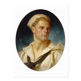 Amerikanischer Seemann durch Joseph Leyendecker Postkarte
