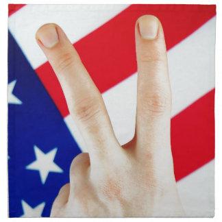 Amerikanischer Sieg Stoffserviette