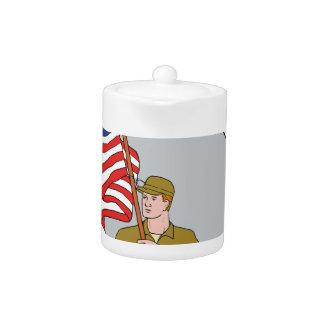 Amerikanischer Soldat, der das
