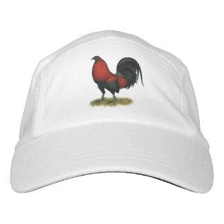 Amerikanischer Spiel BB Schwarz-Rot-Hahn Headsweats Kappe