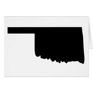 Amerikanischer Staat von Oklahoma Grußkarte