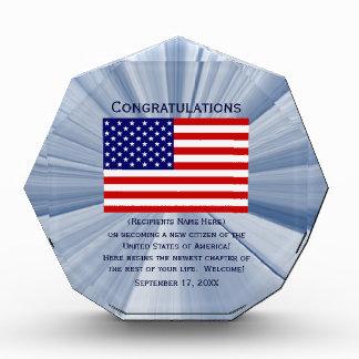 Amerikanischer Staatsbürgerschafts-Flaggen-Preis Auszeichnung