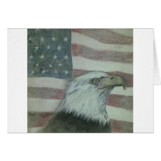 Amerikanischer Stolz Eagle Grußkarte