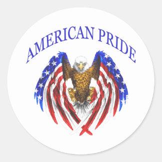 Amerikanischer Stolz Eagle Runder Aufkleber