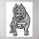 Amerikanischer Tyrann-Hund Poster
