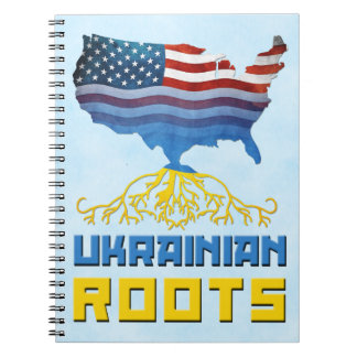 Amerikanischer Ukrainer wurzelt Notizblock