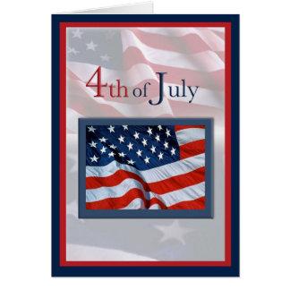 Amerikanischer Unabhängigkeitstag mit Karte