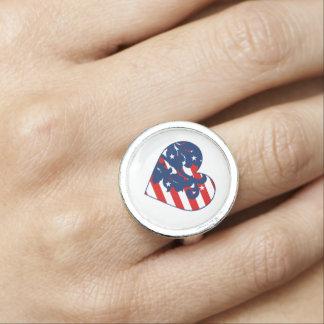 Amerikanischer Unabhängigkeitstag modern Ring