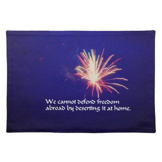 amerikanischer Unabhängigkeitstag Stofftischset