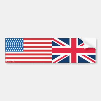 Amerikanischer und Briten-Flaggen-Autoaufkleber Autoaufkleber