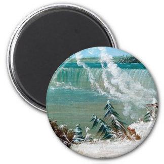 Amerikanischer Ureinwohner auf Niagara Runder Magnet 5,1 Cm