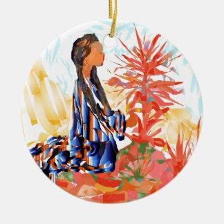"""Amerikanischer Ureinwohner """"der gebende Baum """" Keramik Ornament"""