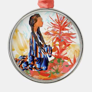 """Amerikanischer Ureinwohner """"der gebende Baum """" Silbernes Ornament"""