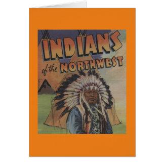 Amerikanischer Ureinwohner des Nordwestens - Karte