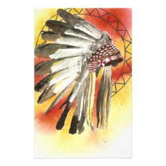 Amerikanischer Ureinwohner Headresss Briefpapier