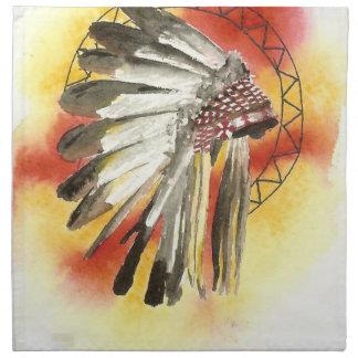 Amerikanischer Ureinwohner Headresss Serviette