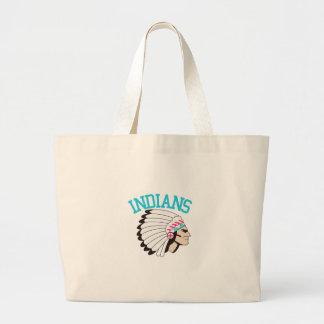 Amerikanischer Ureinwohner Jumbo Stoffbeutel