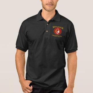 Amerikanischer Ureinwohner (kämpfender Polo Shirt