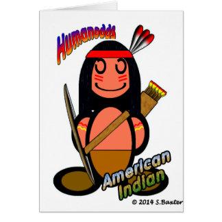Amerikanischer Ureinwohner mit Logos Grußkarten
