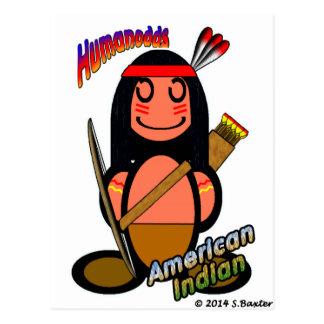 Amerikanischer Ureinwohner (mit Logos) Postkarte
