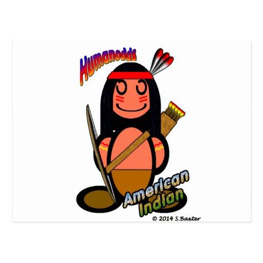 Amerikanischer Ureinwohner (mit Logos) Postkarten