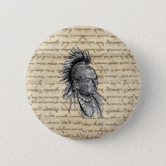 Amerikanischer Ureinwohner Runder Button 5,1 Cm