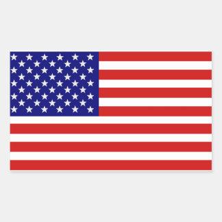 Amerikanischer USA-Flaggen-Aufkleber Rechteckiger Aufkleber