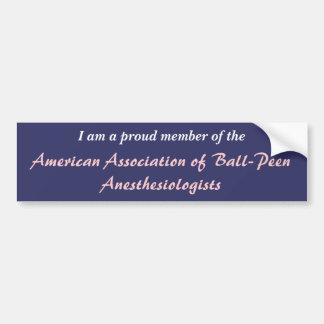 Amerikanischer Verband von Ball-Finne Autoaufkleber