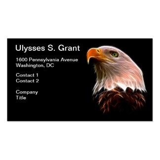 Amerikanischer Weißkopfseeadler-Kopf Visitenkartenvorlagen