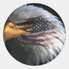 Amerikanischer Weißkopfseeadler mit Runder Aufkleber