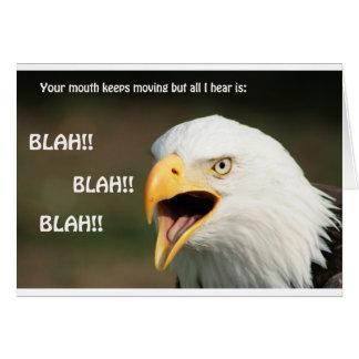 Amerikanischer Weißkopfseeadler mit Text Grußkarte