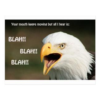 Amerikanischer Weißkopfseeadler mit Text Postkarten