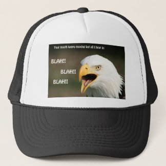 Amerikanischer Weißkopfseeadler mit Text Truckerkappe