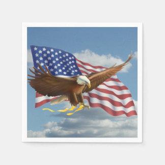 Amerikanischer Weißkopfseeadler Papierserviette