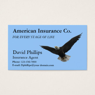 Amerikanischer Weißkopfseeadler patriotisch Visitenkarte