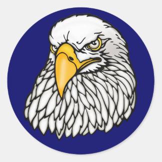 Amerikanischer Weißkopfseeadler Runder Aufkleber