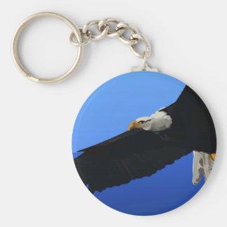 Amerikanischer Weißkopfseeadler Standard Runder Schlüsselanhänger