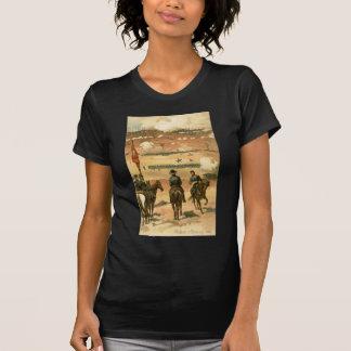 Amerikanischer ziviler Kriegs-Kampf von T-Shirt