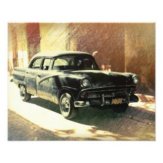 Amerikanisches Auto in Havana, Kuba Fotodruck