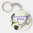 Amerikanisches Bulldogge keychain Schlüsselanhänger