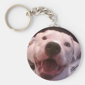 Amerikanisches Bulldogge keychain Standard Runder Schlüsselanhänger