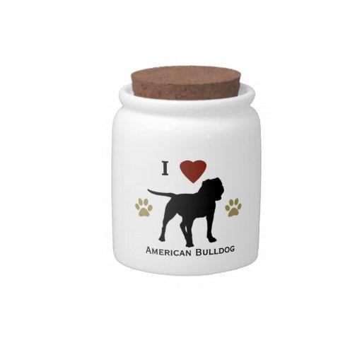 Amerikanisches Bulldoggen-Leckerei-Süßigkeits-Glas Plätzchendosen
