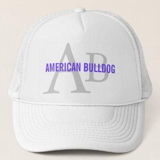 Amerikanisches Bulldoggen-Zucht-Monogramm Truckerkappe