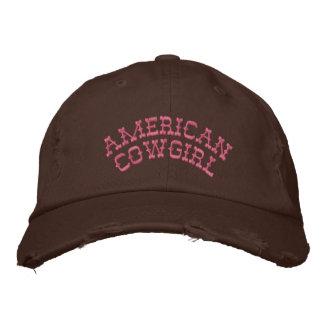 Amerikanisches Cowgirl Bestickte Baseballmütze