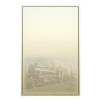 Amerikanisches Dampf-Motor-Eisenbahn-Briefpapier Briefpapier